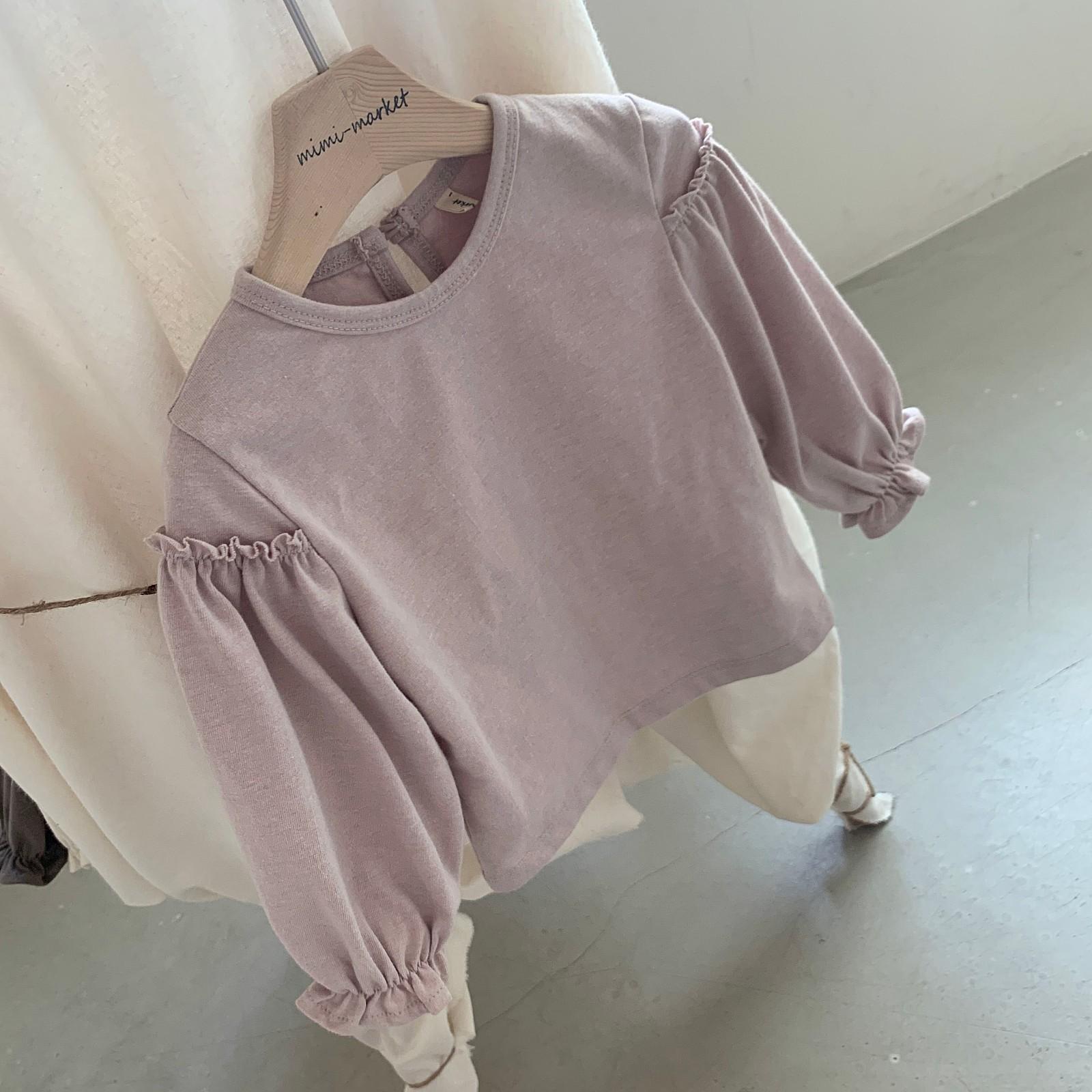 MIMI MARKET - Korean Children Fashion - #Kfashion4kids - Frill Sleeve Tee - 10