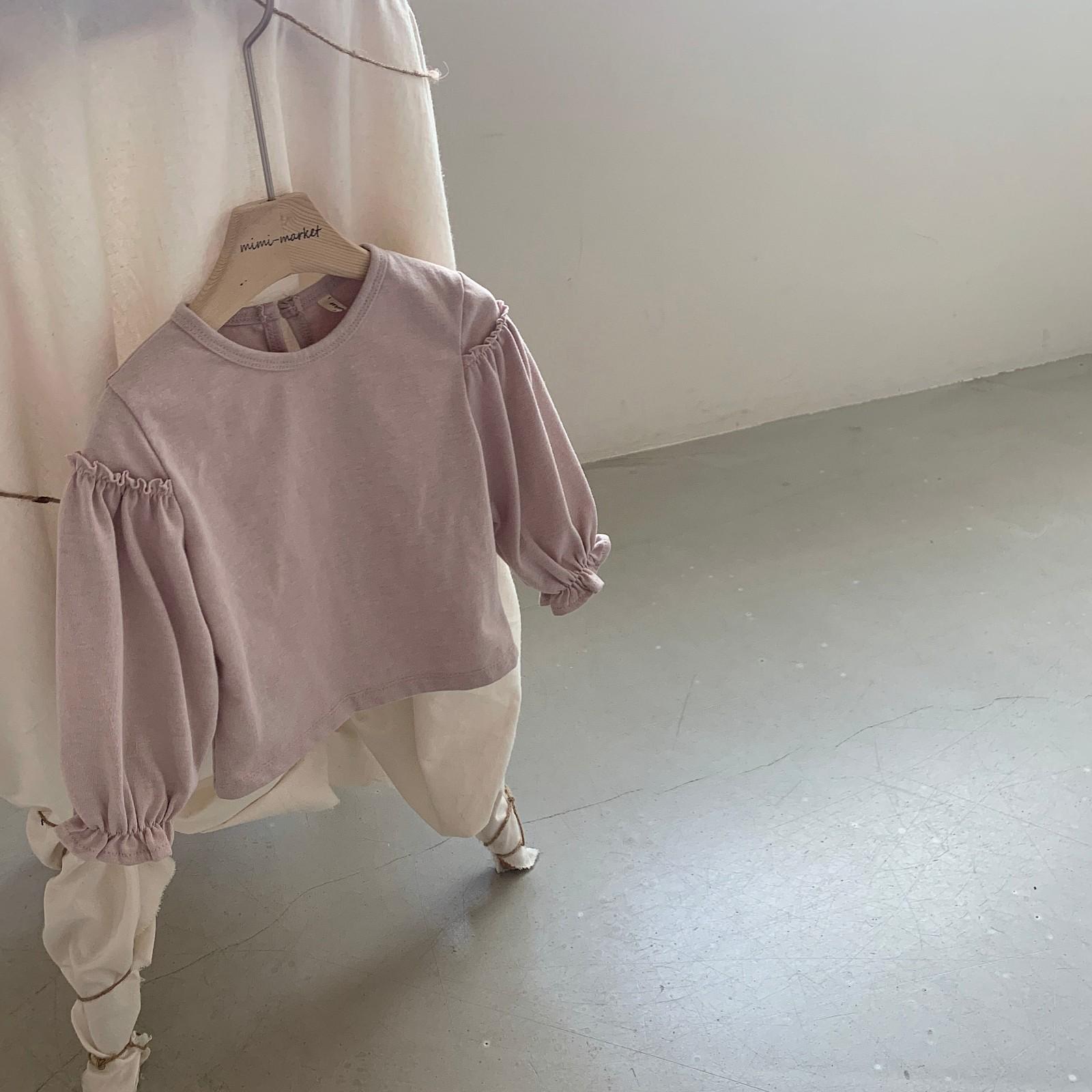 MIMI MARKET - Korean Children Fashion - #Kfashion4kids - Frill Sleeve Tee - 11