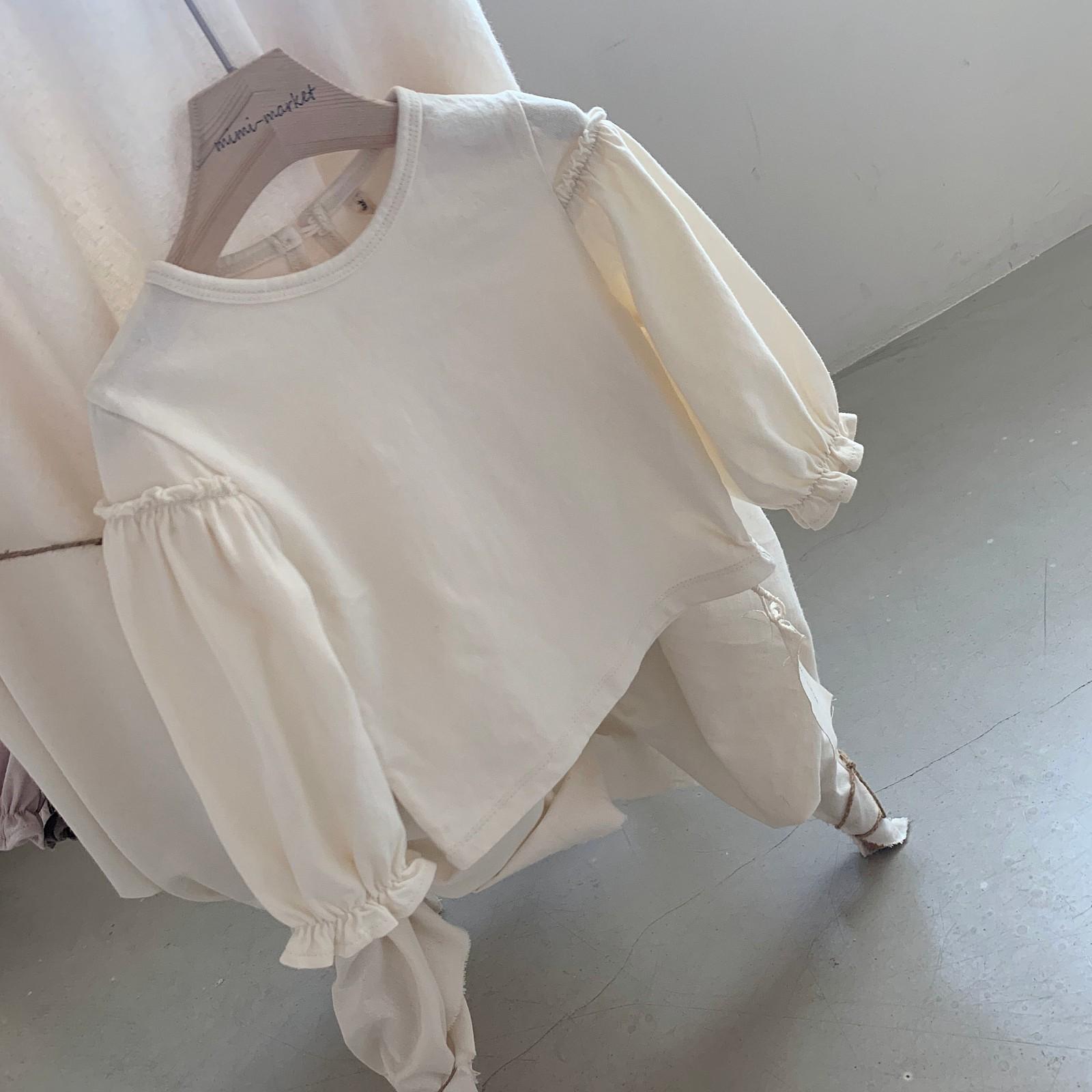 MIMI MARKET - Korean Children Fashion - #Kfashion4kids - Frill Sleeve Tee - 12