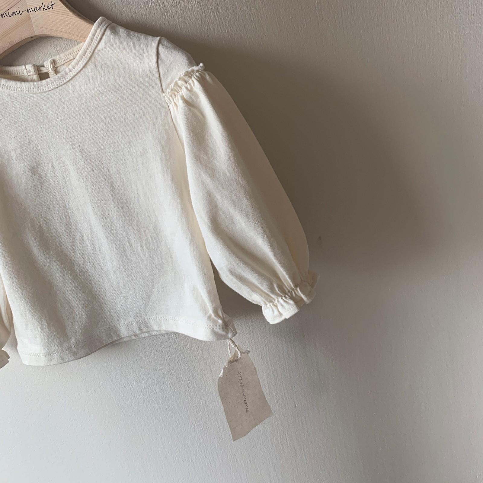 MIMI MARKET - Korean Children Fashion - #Kfashion4kids - Frill Sleeve Tee - 3