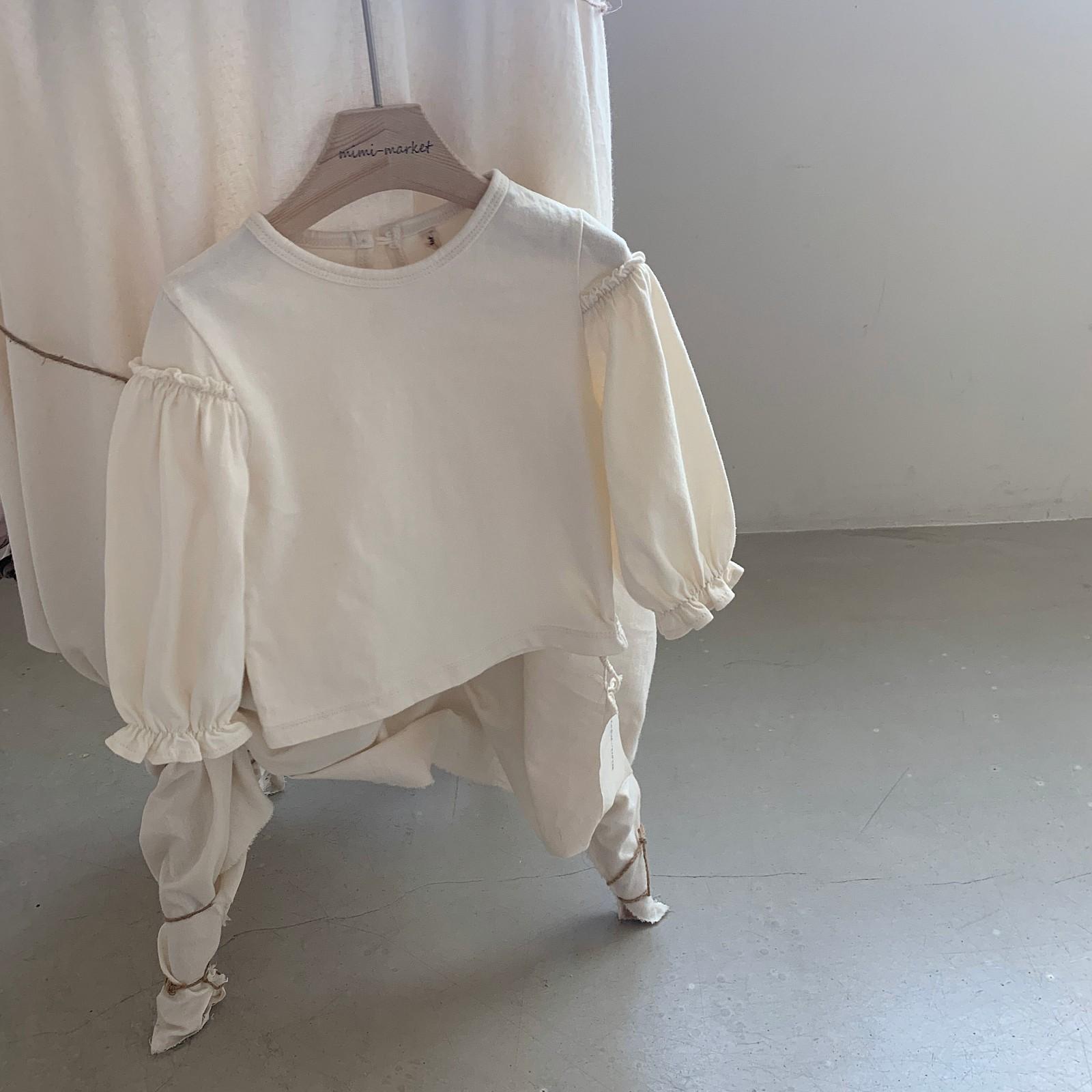 MIMI MARKET - Korean Children Fashion - #Kfashion4kids - Frill Sleeve Tee - 4