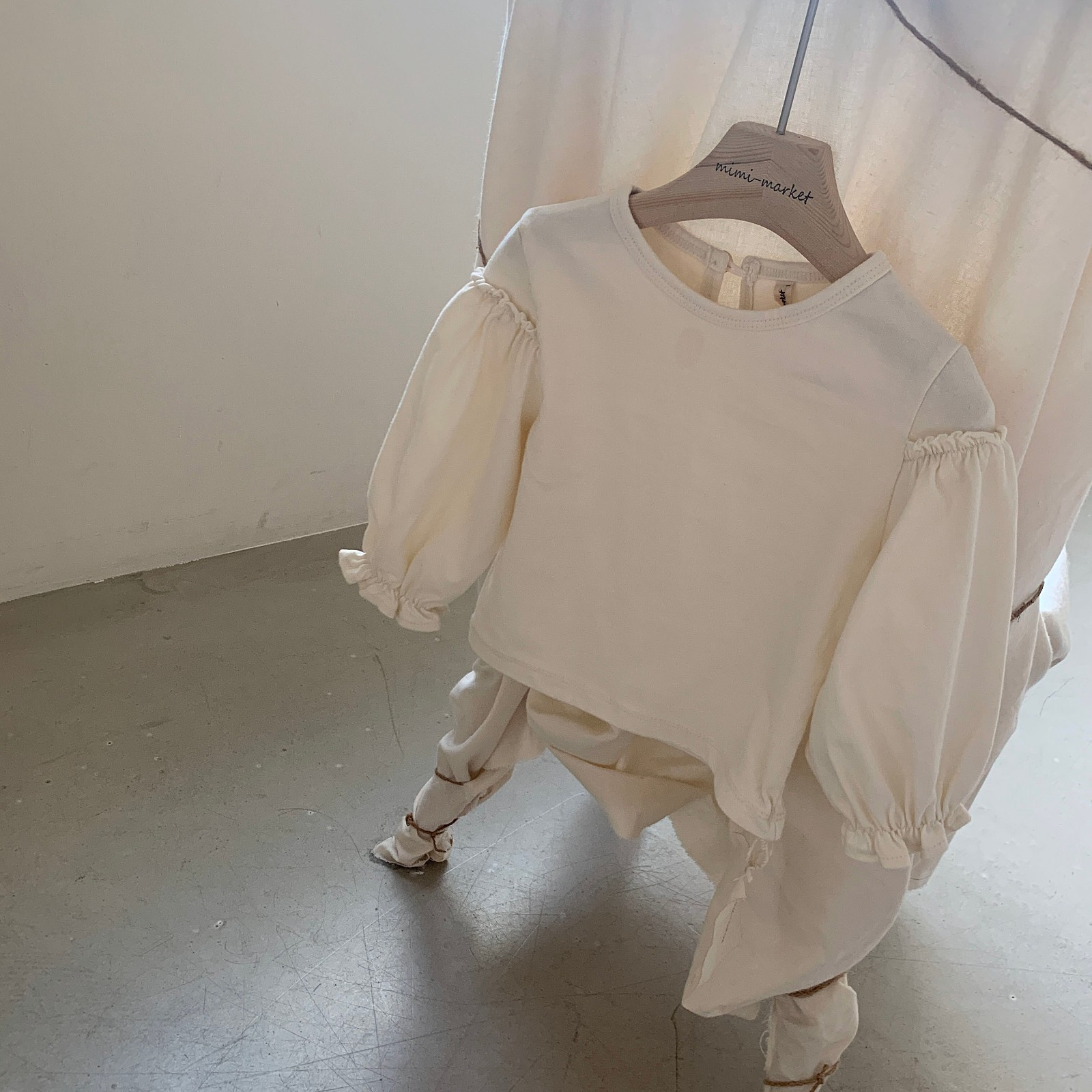 MIMI MARKET - Korean Children Fashion - #Kfashion4kids - Frill Sleeve Tee - 5