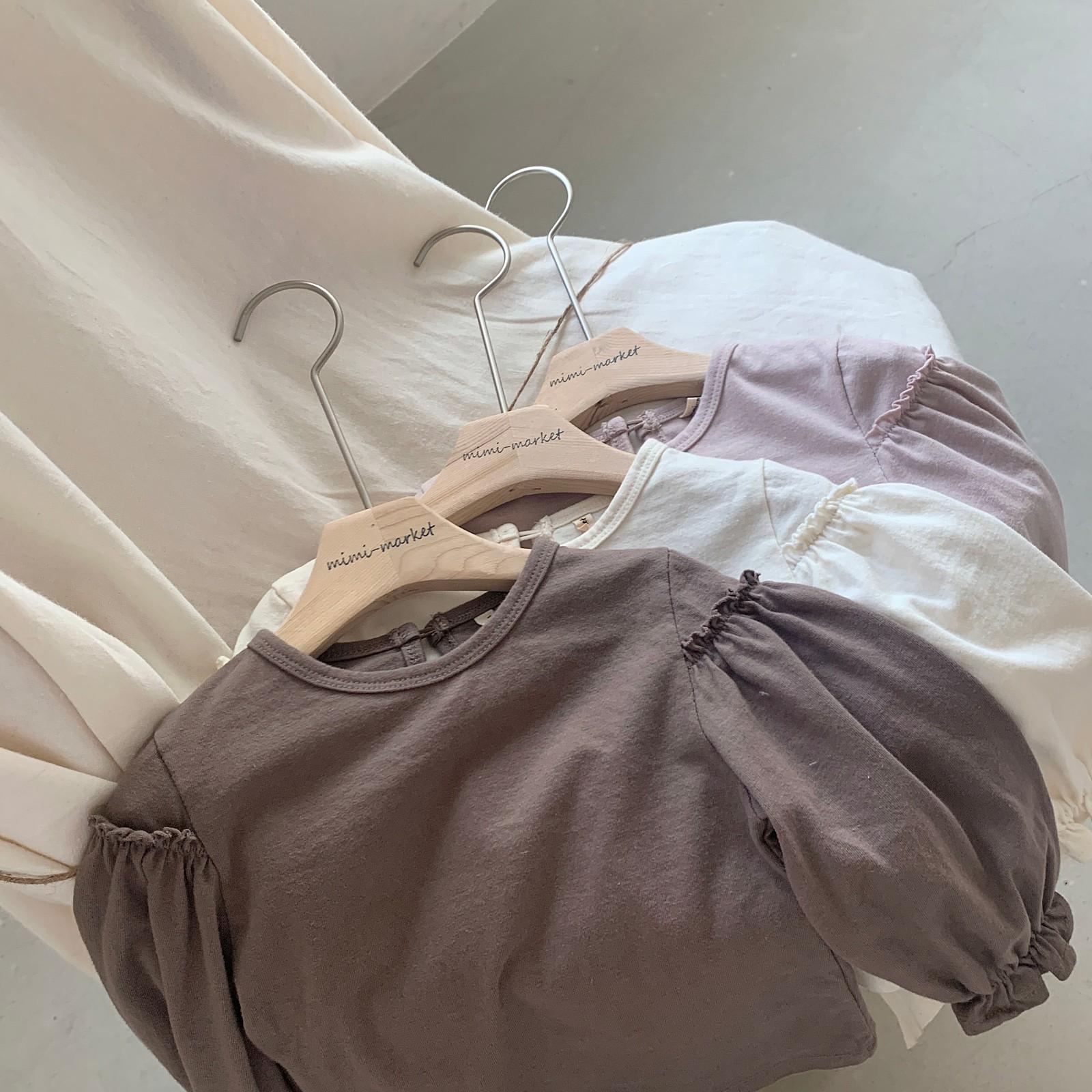 MIMI MARKET - Korean Children Fashion - #Kfashion4kids - Frill Sleeve Tee - 6