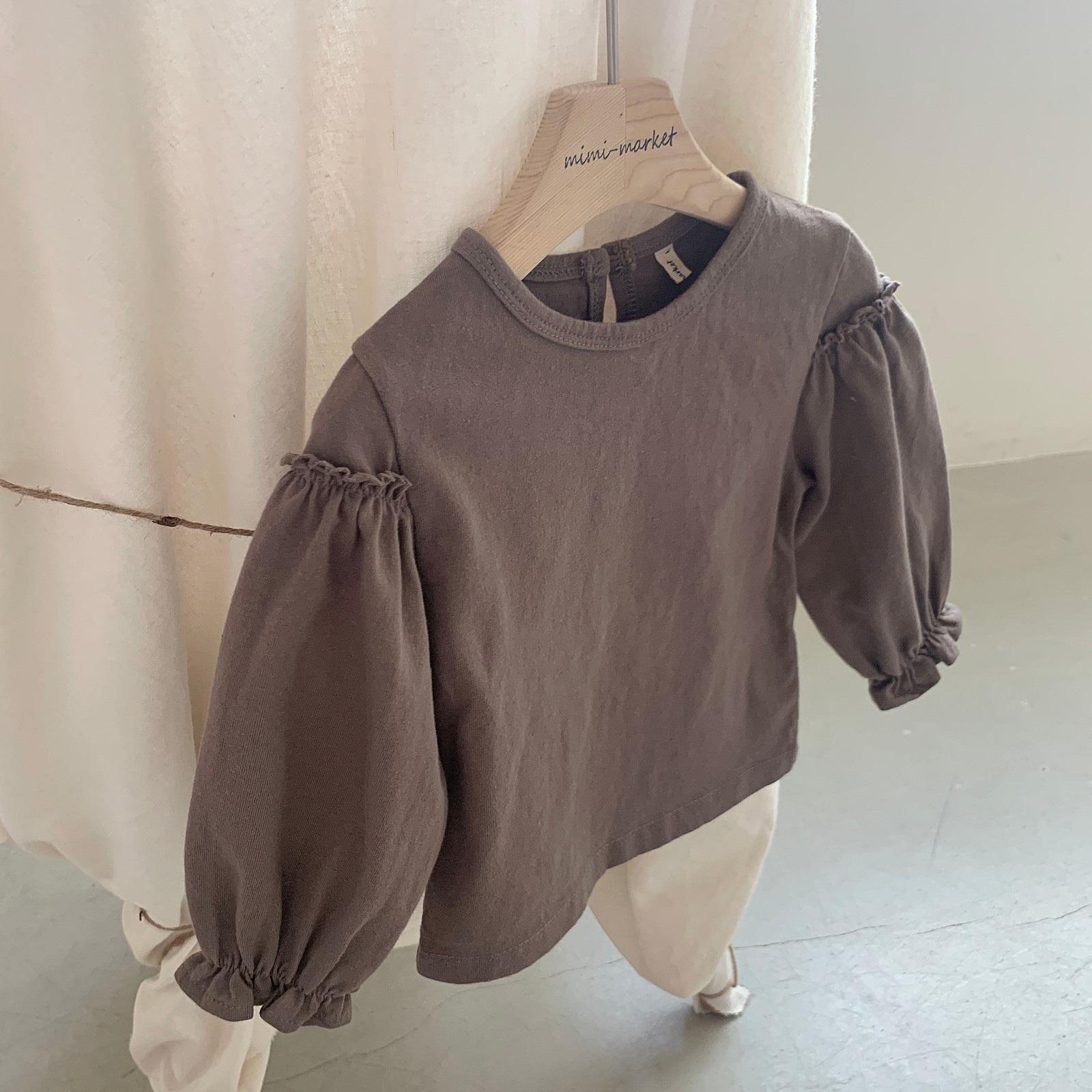 MIMI MARKET - Korean Children Fashion - #Kfashion4kids - Frill Sleeve Tee - 8
