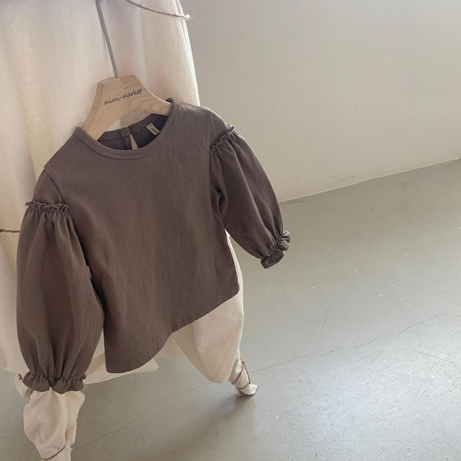 MIMI MARKET - Korean Children Fashion - #Kfashion4kids - Frill Sleeve Tee - 9