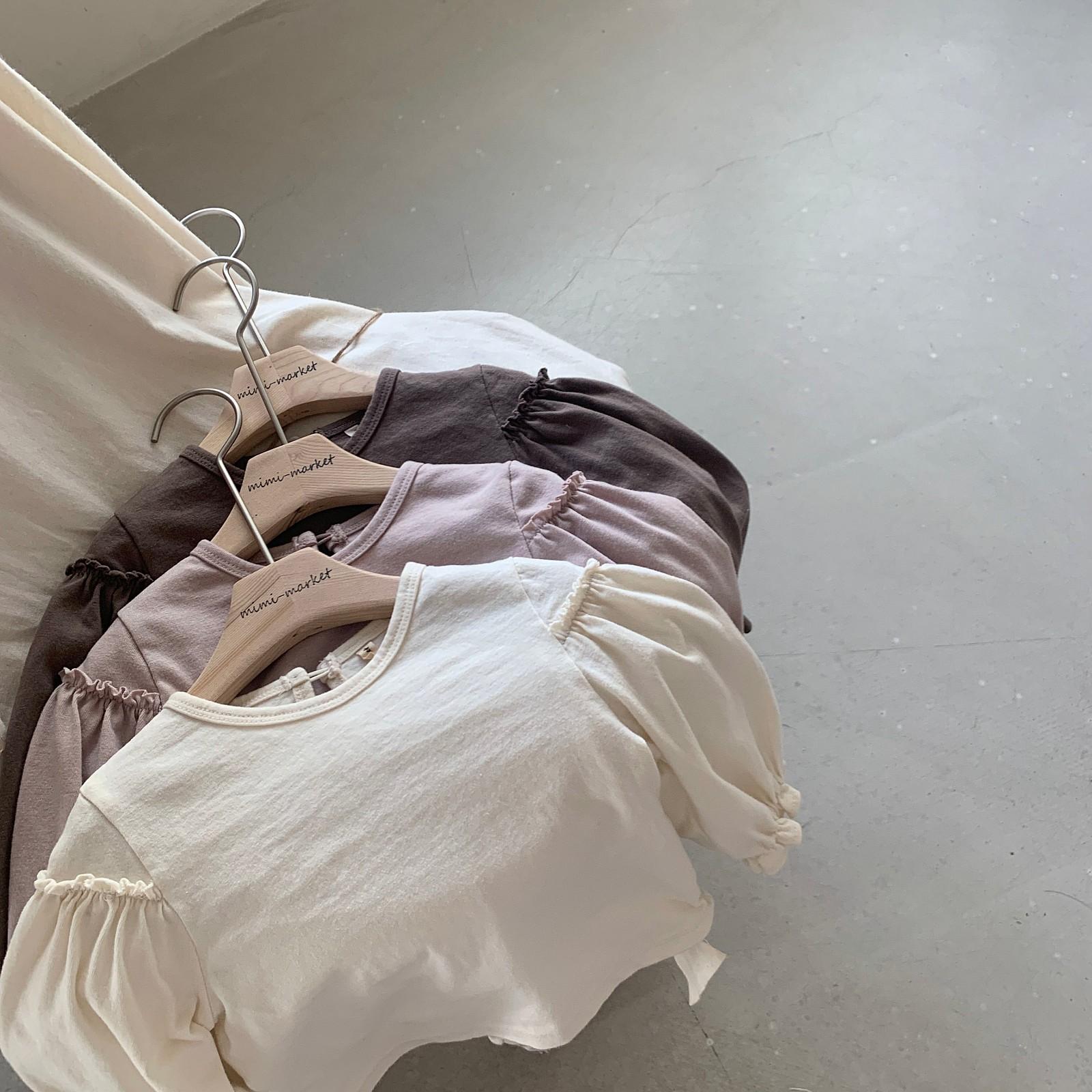 MIMI MARKET - BRAND - Korean Children Fashion - #Kfashion4kids - Frill Sleeve Tee