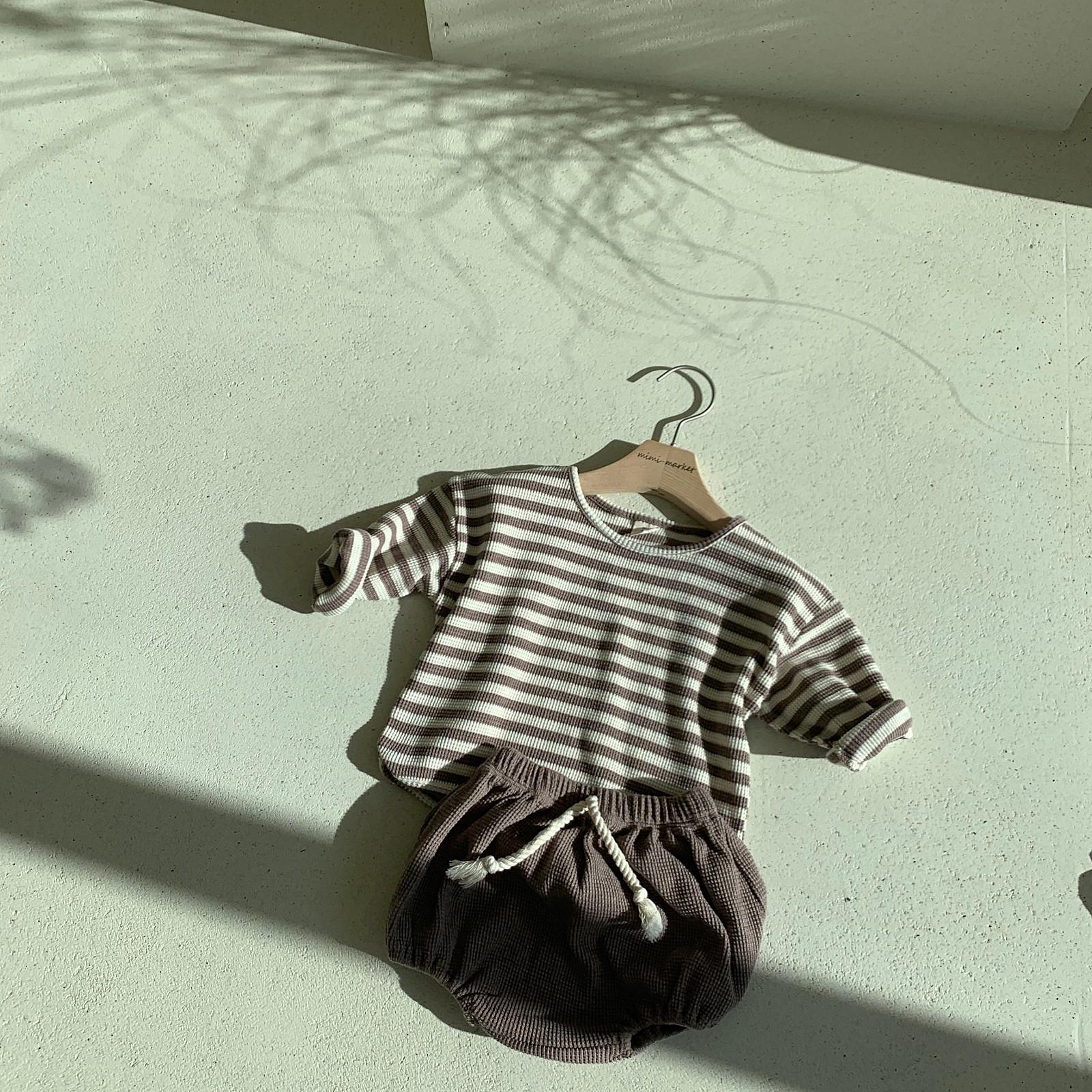 MIMI MARKET - Korean Children Fashion - #Kfashion4kids - Waffle Top Bloomer Set - 5