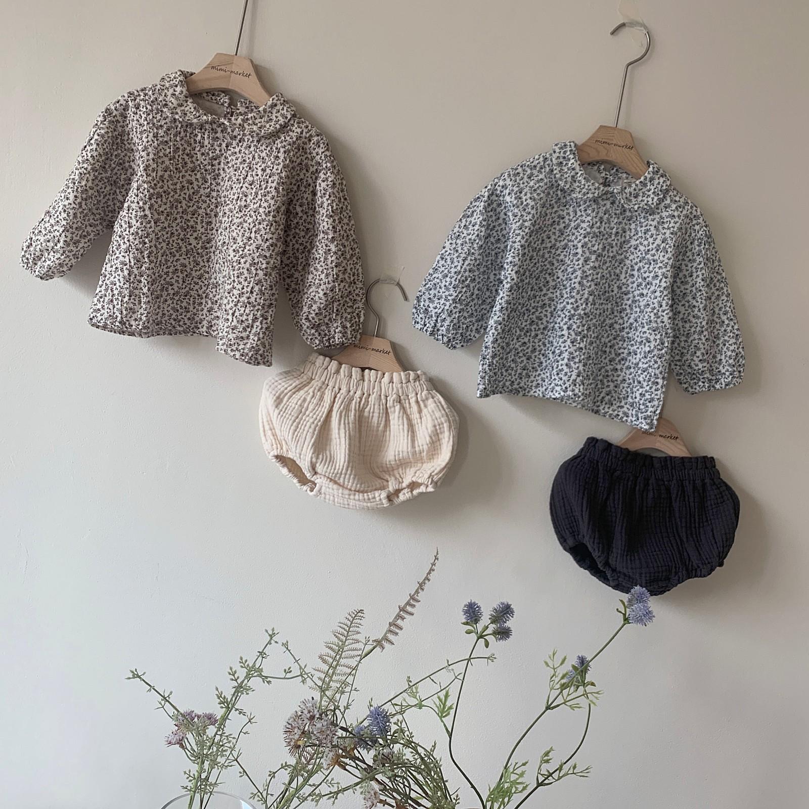 MIMI MARKET - Korean Children Fashion - #Kfashion4kids - Franc Blouse Bloomer Set