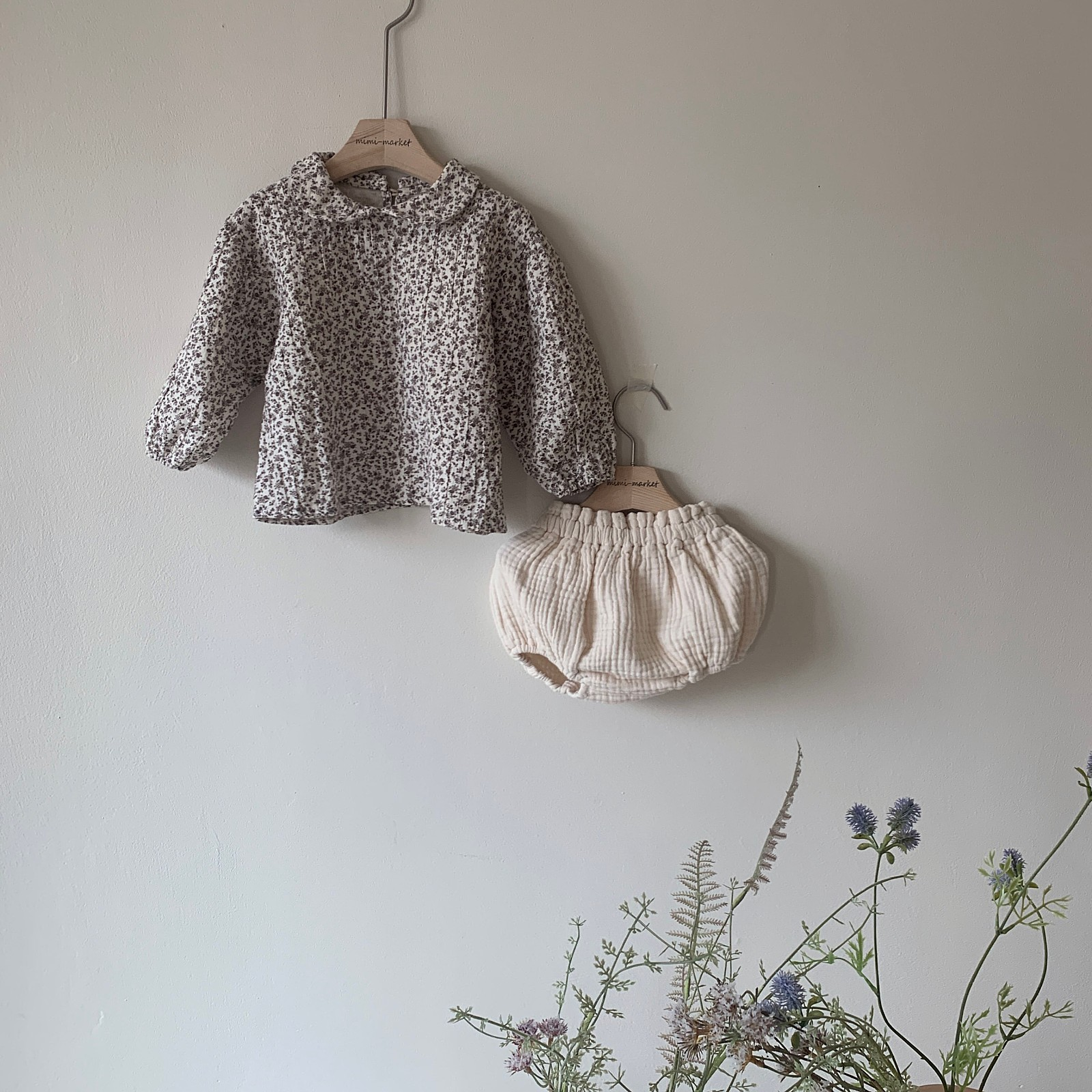 MIMI MARKET - Korean Children Fashion - #Kfashion4kids - Franc Blouse Bloomer Set - 12