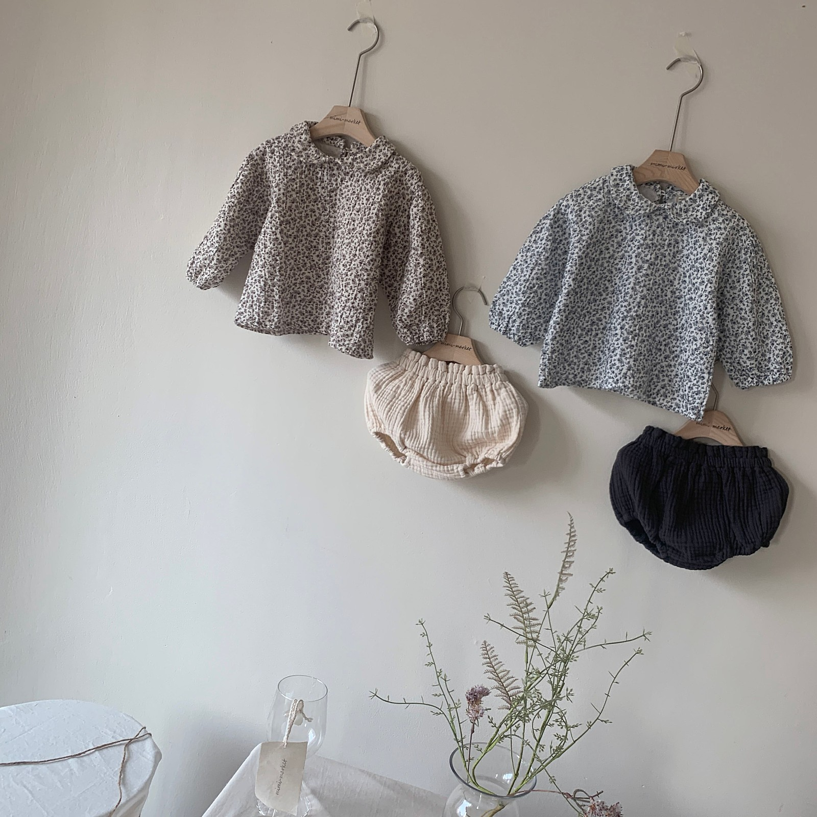 MIMI MARKET - Korean Children Fashion - #Kfashion4kids - Franc Blouse Bloomer Set - 5
