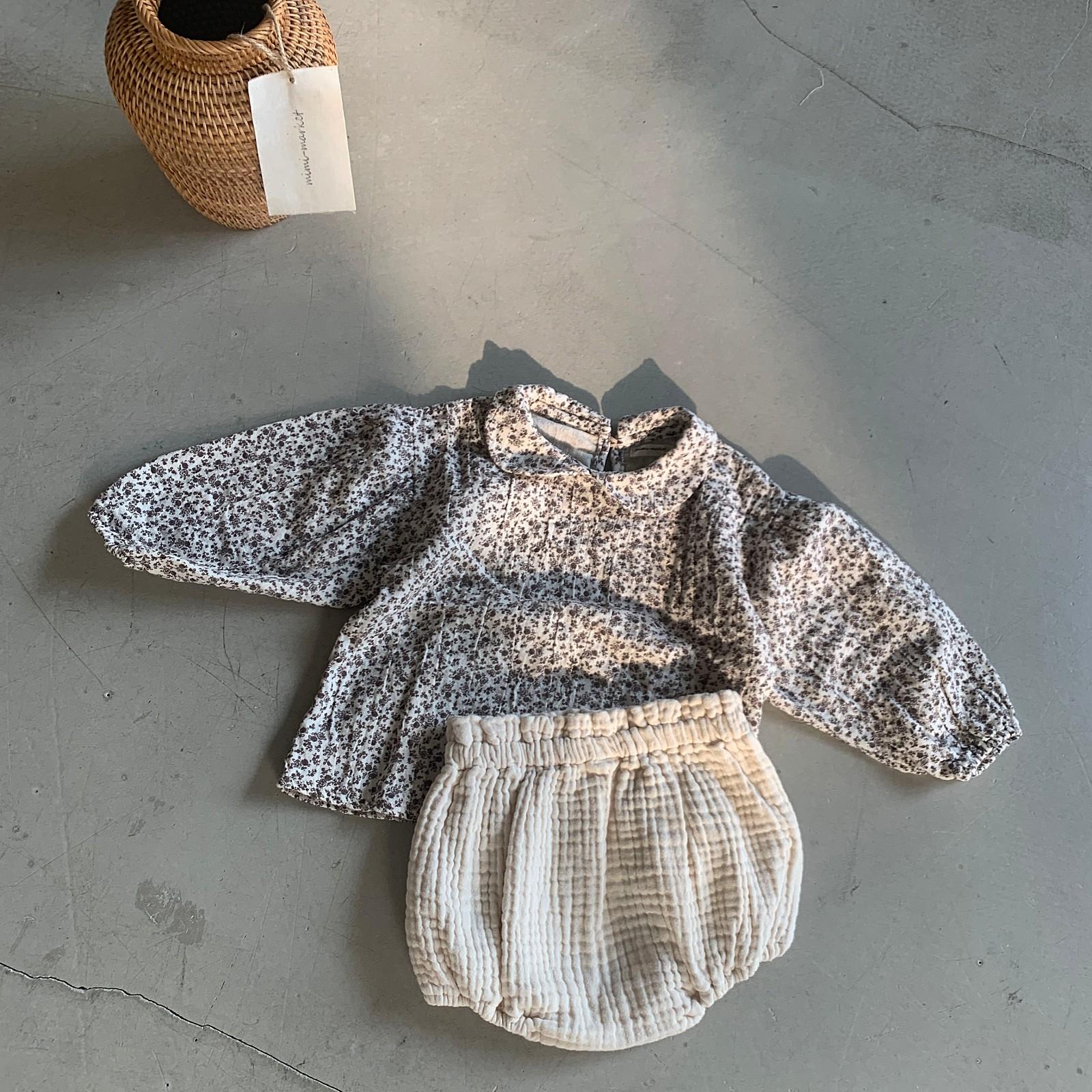 MIMI MARKET - BRAND - Korean Children Fashion - #Kfashion4kids - Franc Blouse Bloomer Set