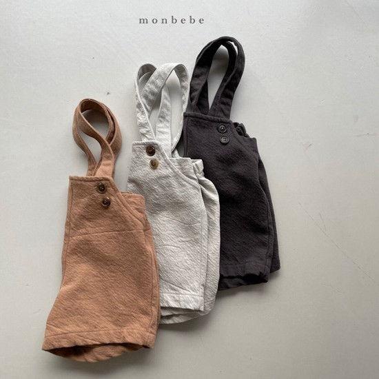 MONBEBE - Korean Children Fashion - #Kfashion4kids - Spring Suspender Half Pants