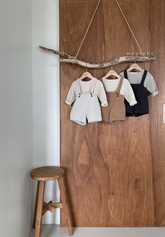 MONBEBE - Korean Children Fashion - #Kfashion4kids - Spring Suspender Half Pants - 10