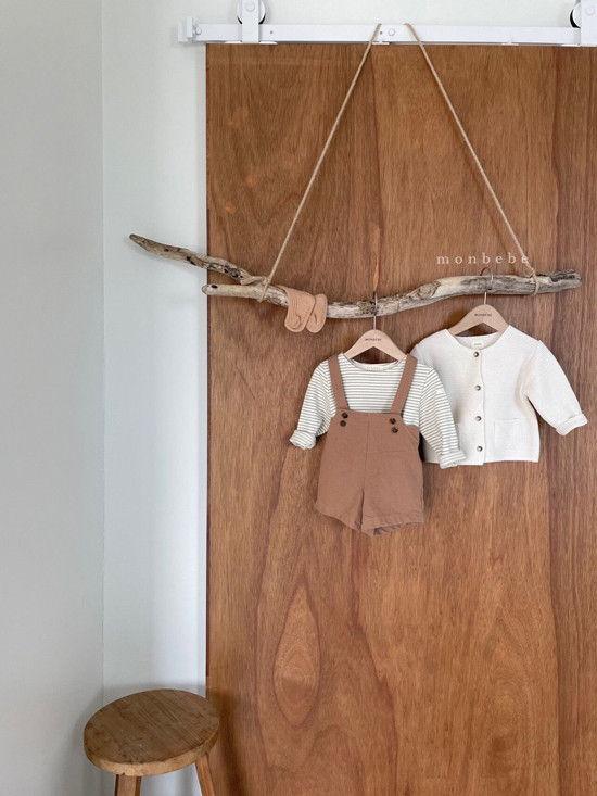 MONBEBE - Korean Children Fashion - #Kfashion4kids - Spring Suspender Half Pants - 11