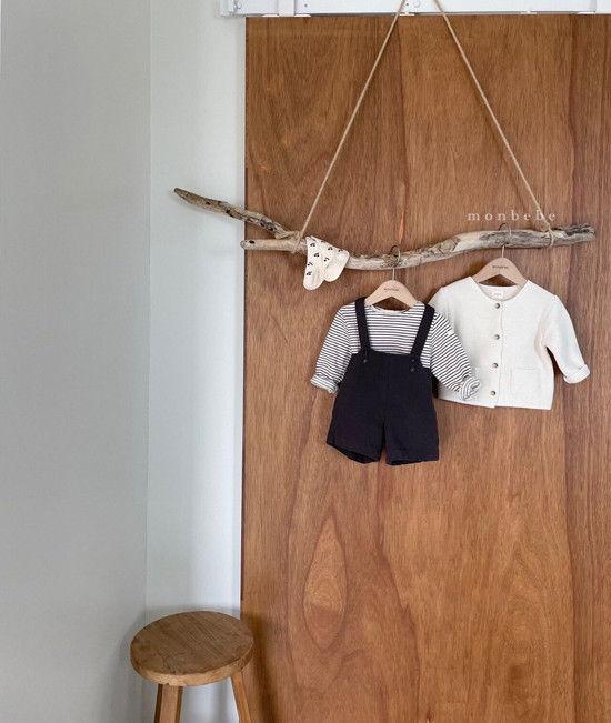 MONBEBE - Korean Children Fashion - #Kfashion4kids - Spring Suspender Half Pants - 12
