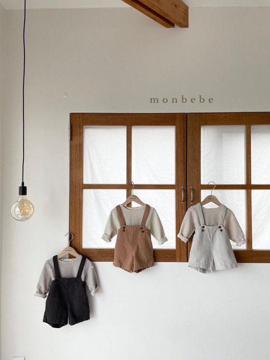MONBEBE - Korean Children Fashion - #Kfashion4kids - Spring Suspender Half Pants - 2