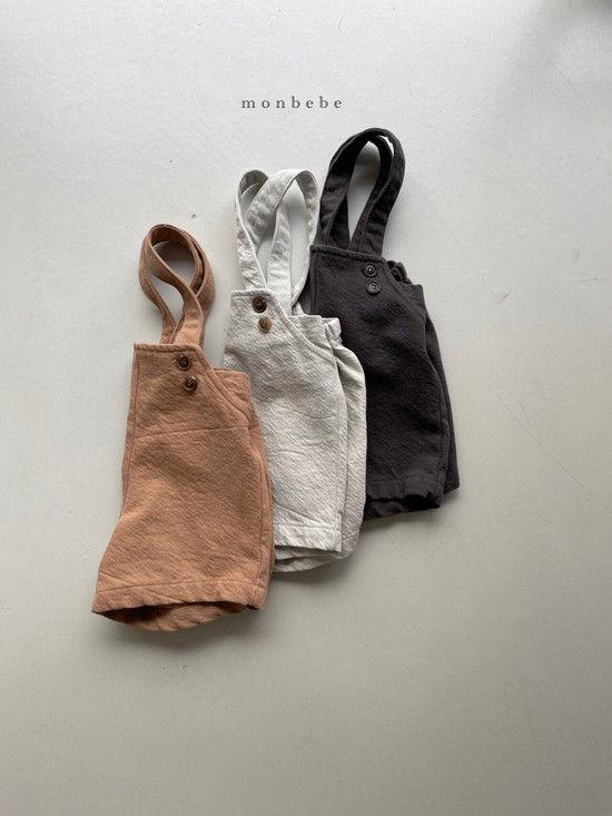 MONBEBE - Korean Children Fashion - #Kfashion4kids - Spring Suspender Half Pants - 4