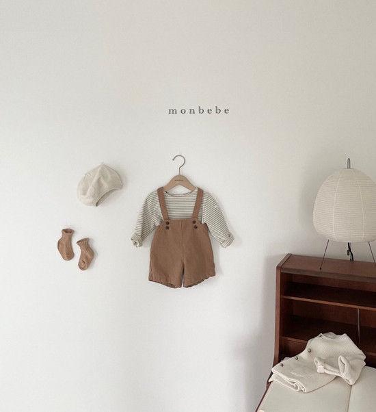 MONBEBE - Korean Children Fashion - #Kfashion4kids - Spring Suspender Half Pants - 5