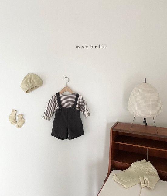 MONBEBE - Korean Children Fashion - #Kfashion4kids - Spring Suspender Half Pants - 6