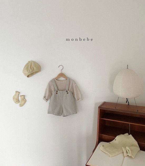 MONBEBE - Korean Children Fashion - #Kfashion4kids - Spring Suspender Half Pants - 7