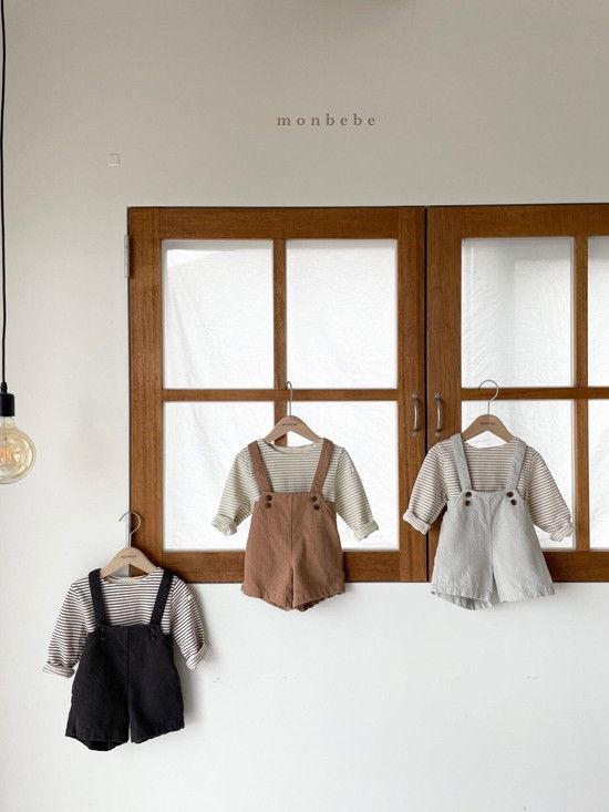 MONBEBE - Korean Children Fashion - #Kfashion4kids - Spring Suspender Half Pants - 9