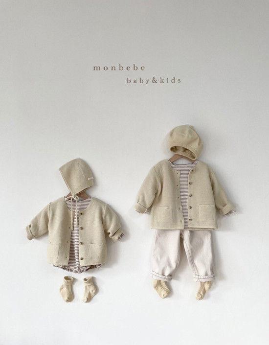 MONBEBE - Korean Children Fashion - #Kfashion4kids - Caramel Cardigan - 11