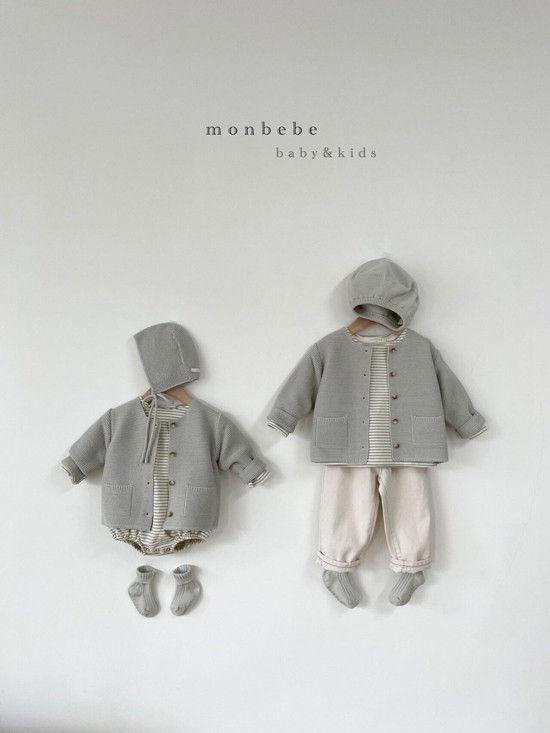 MONBEBE - Korean Children Fashion - #Kfashion4kids - Caramel Cardigan - 12
