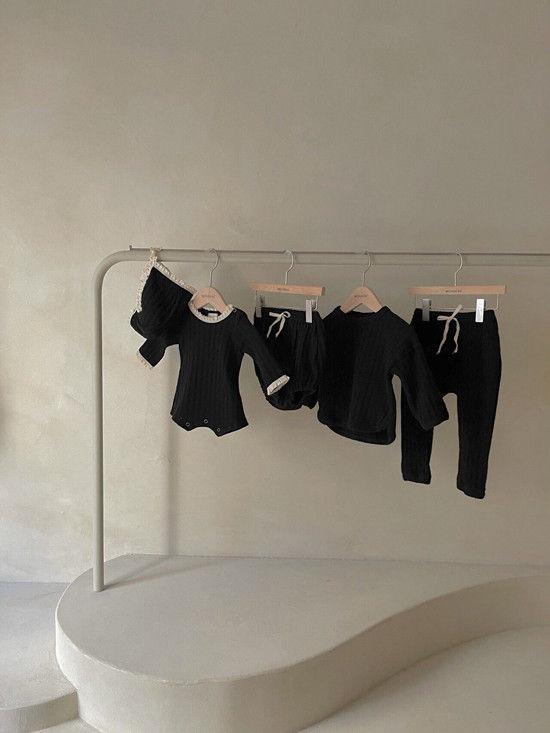 MONBEBE - Korean Children Fashion - #Kfashion4kids - Croiffle Bodysuit with Bonnet - 6