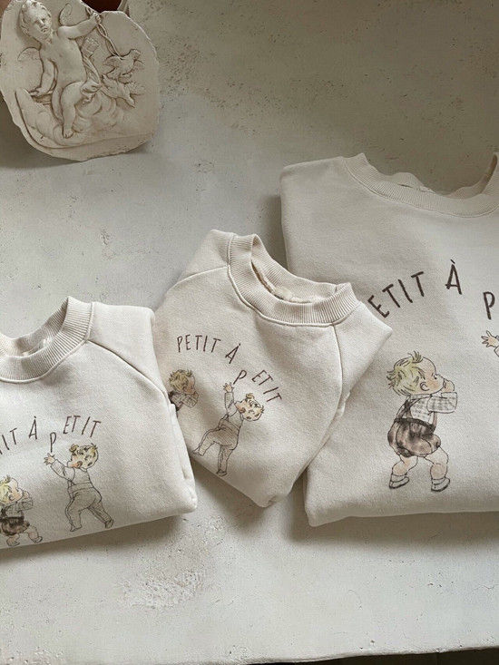 MONBEBE - Korean Children Fashion - #Kfashion4kids - Petit Print Sweatshirt - 8