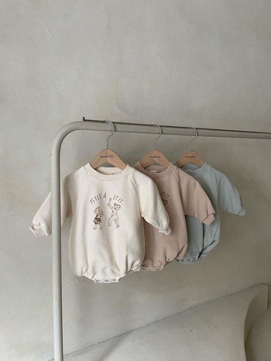MONBEBE - Korean Children Fashion - #Kfashion4kids - Petit Print Bodysuit - 4