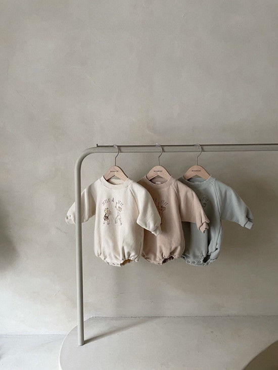 MONBEBE - Korean Children Fashion - #Kfashion4kids - Petit Print Bodysuit - 6