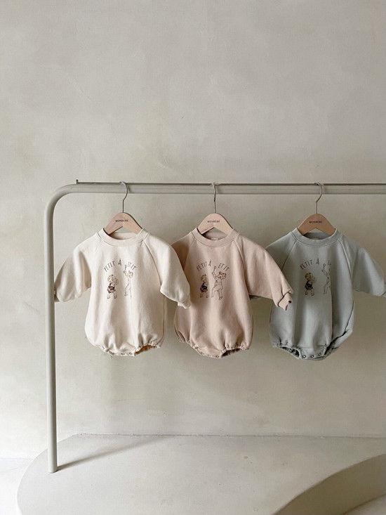 MONBEBE - BRAND - Korean Children Fashion - #Kfashion4kids - Petit Print Bodysuit