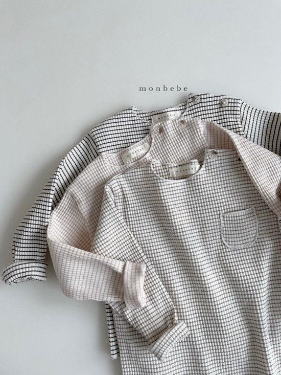 MONBEBE - Korean Children Fashion - #Kfashion4kids - Paul Stripe Tee - 3