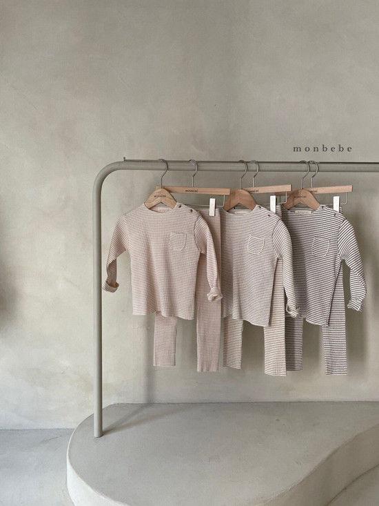 MONBEBE - Korean Children Fashion - #Kfashion4kids - Paul Stripe Tee - 4