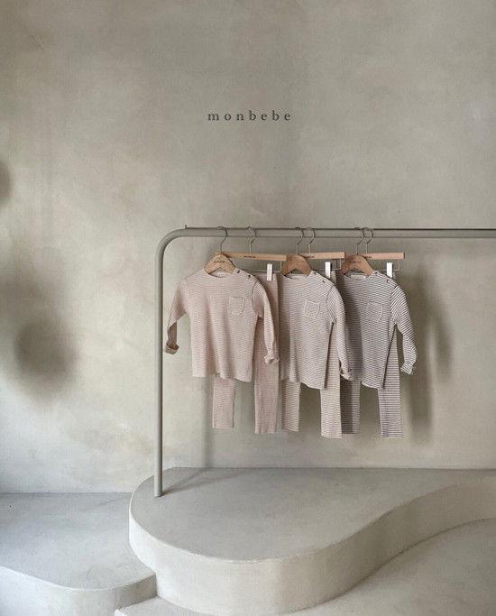 MONBEBE - Korean Children Fashion - #Kfashion4kids - Paul Stripe Tee - 5