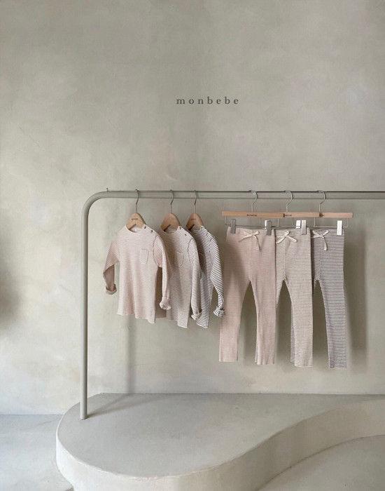 MONBEBE - Korean Children Fashion - #Kfashion4kids - Paul Stripe Tee - 7