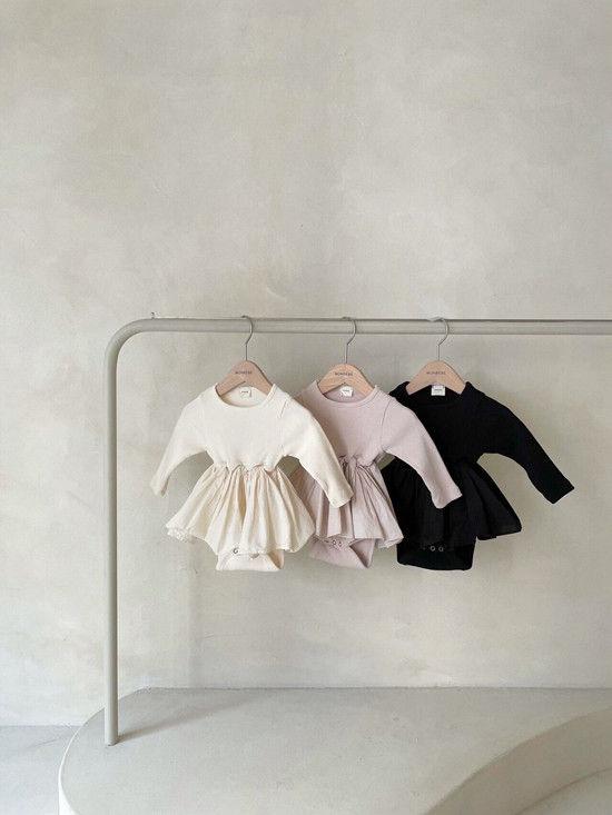 MONBEBE - Korean Children Fashion - #Kfashion4kids - Rib Frill Bodysuit