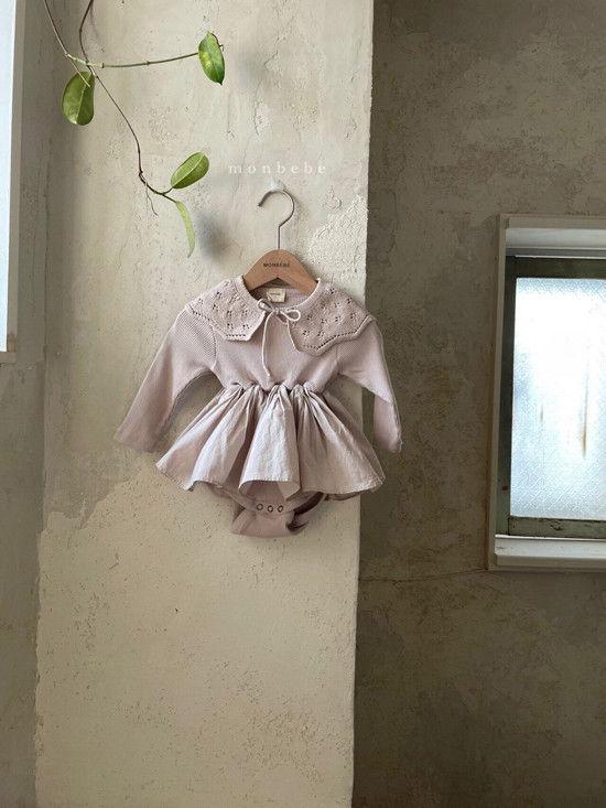 MONBEBE - Korean Children Fashion - #Kfashion4kids - Rib Frill Bodysuit - 3