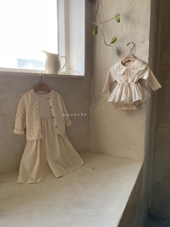 MONBEBE - Korean Children Fashion - #Kfashion4kids - Rib Frill Bodysuit - 6