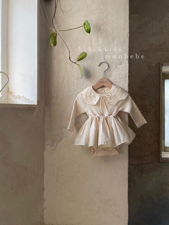 MONBEBE - BRAND - Korean Children Fashion - #Kfashion4kids - Rib Frill Bodysuit