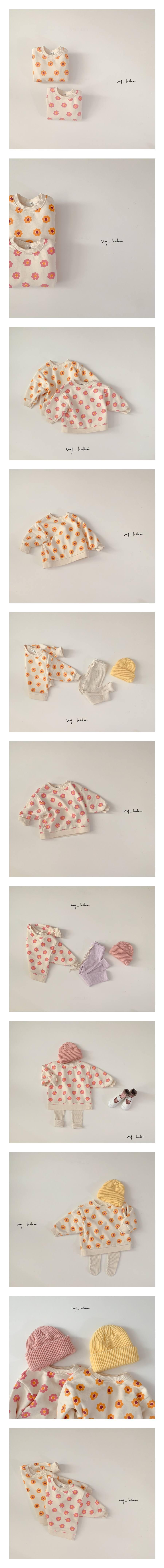 MY BEBE - Korean Children Fashion - #Kfashion4kids - Flower Sweatshirt