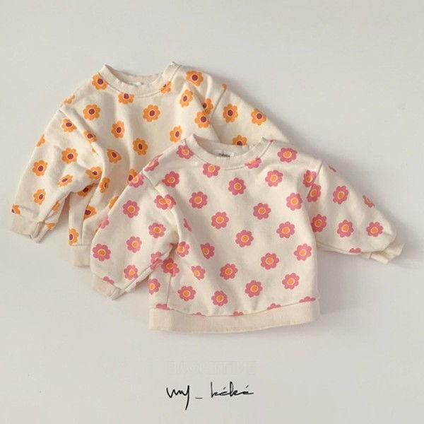 MY BEBE - BRAND - Korean Children Fashion - #Kfashion4kids - Flower Sweatshirt