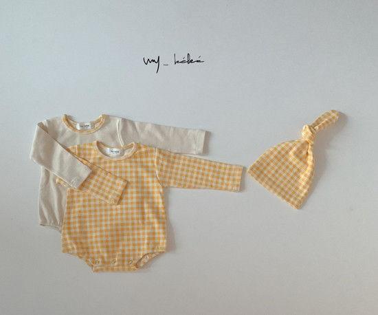 MY BEBE - Korean Children Fashion - #Kfashion4kids - Two Romper Set with Hat - 4