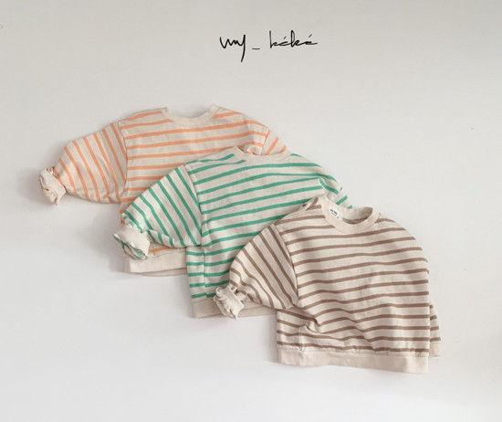 MY BEBE - BRAND - Korean Children Fashion - #Kfashion4kids - Pastel Stripe Tee
