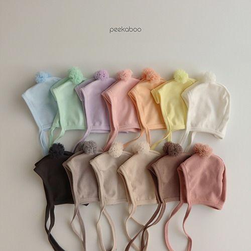 PEEKABOO - BRAND - Korean Children Fashion - #Kfashion4kids - Spring Pompom Hat