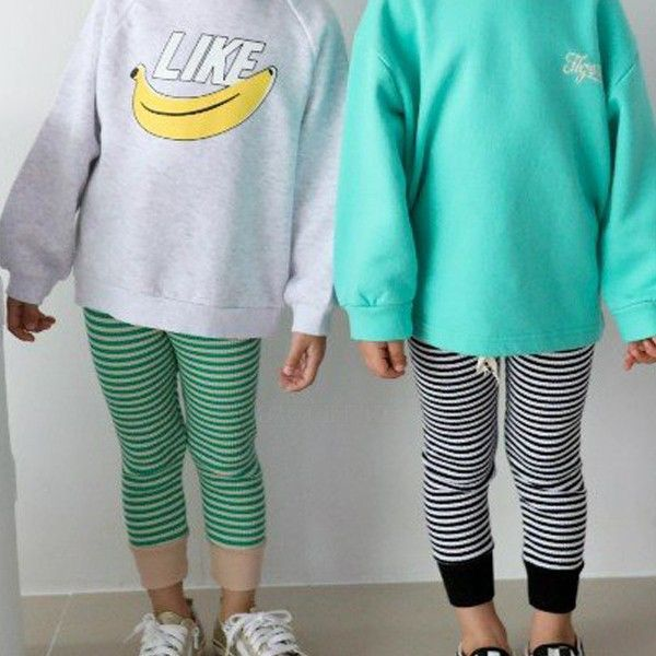 SEWING-B - BRAND - Korean Children Fashion - #Kfashion4kids - Jelly Stripe Leggings
