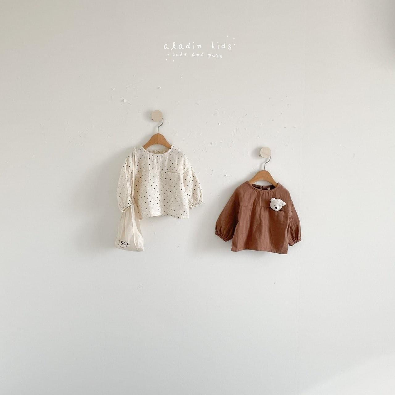 ALADIN - BRAND - Korean Children Fashion - #Kfashion4kids - Pocket Blouse