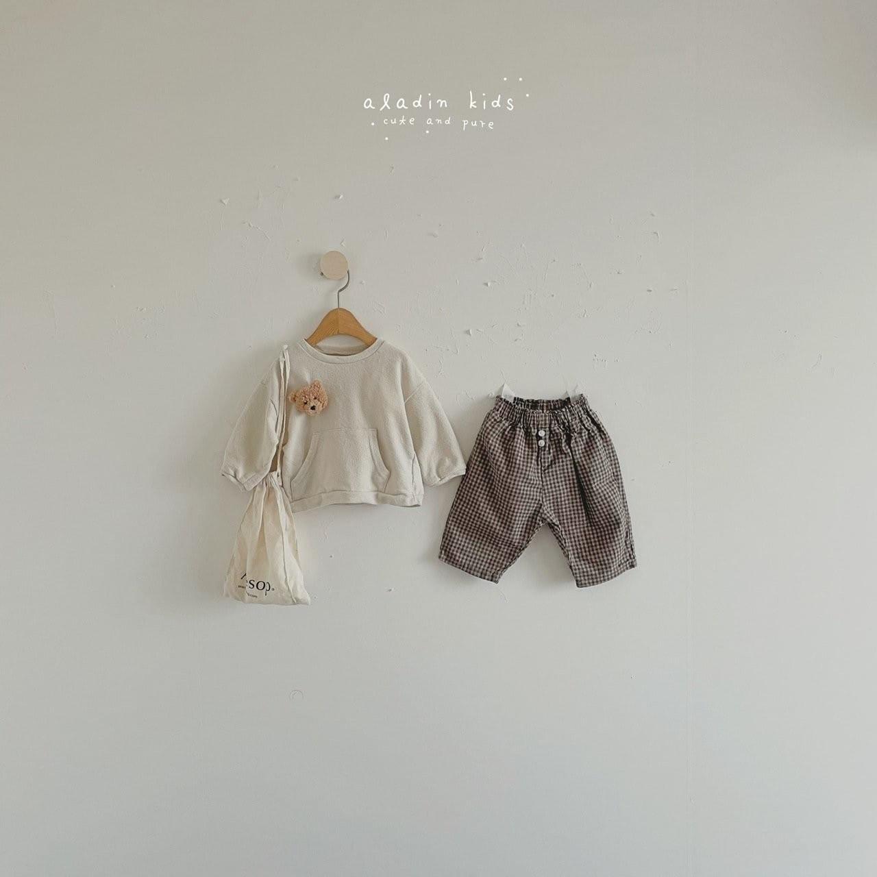 ALADIN - Korean Children Fashion - #Kfashion4kids - Mint Check Pants - 3