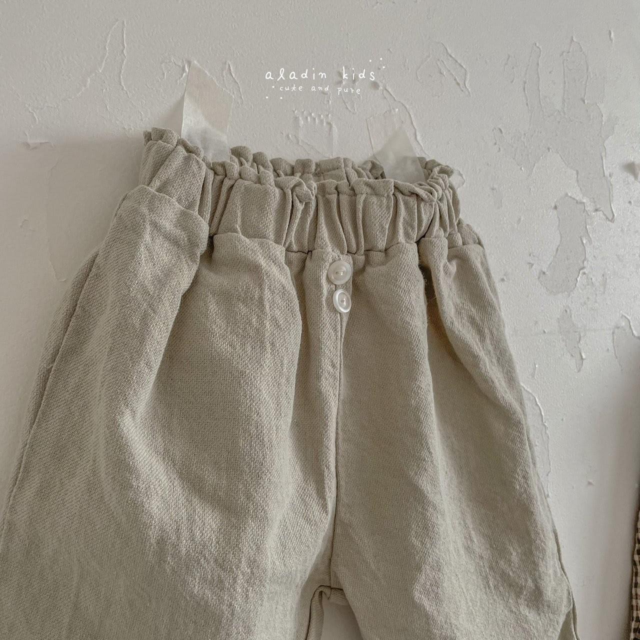 ALADIN - Korean Children Fashion - #Kfashion4kids - Mint Check Pants - 4