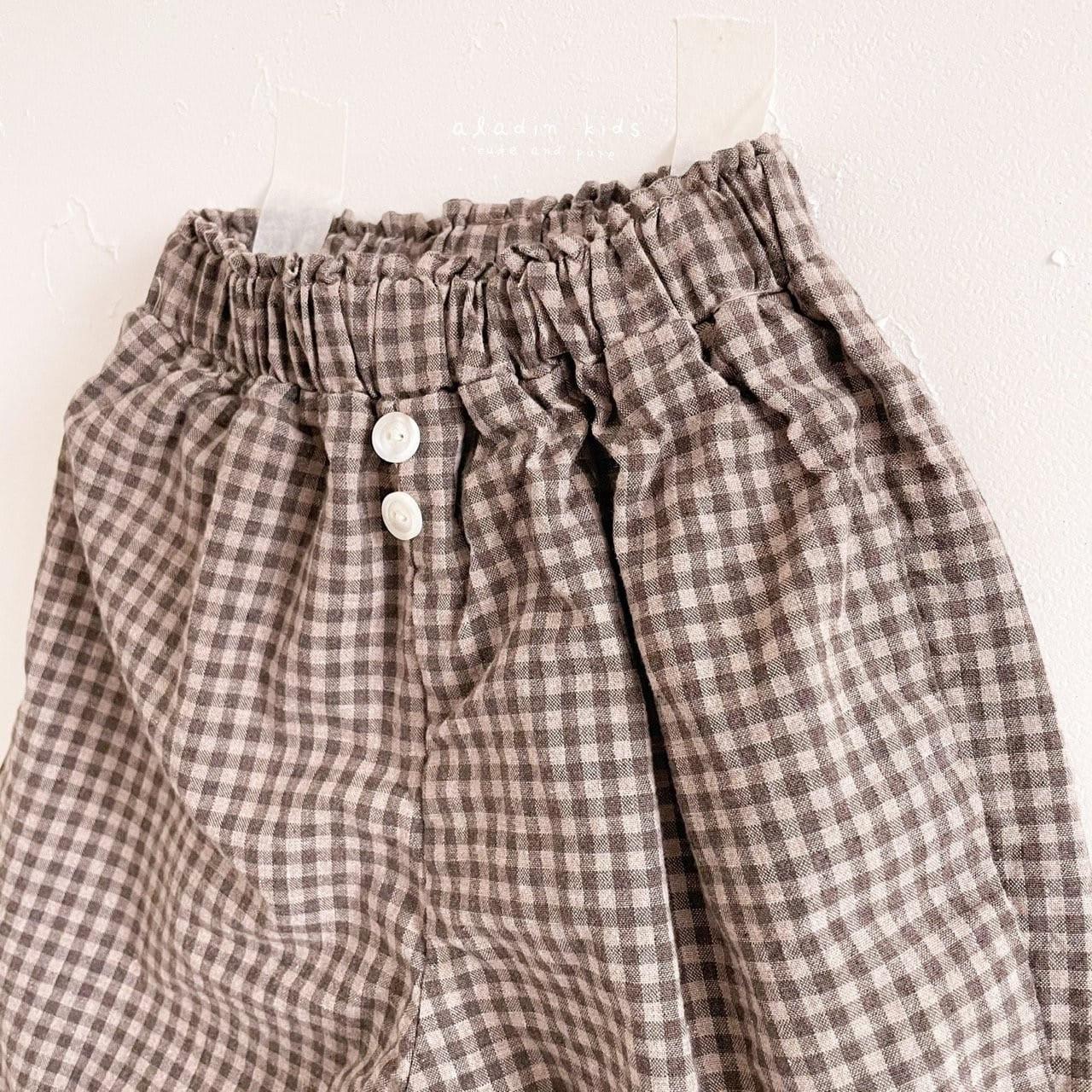 ALADIN - Korean Children Fashion - #Kfashion4kids - Mint Check Pants - 5